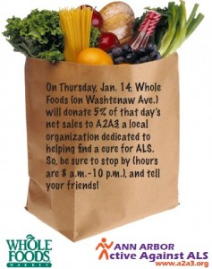 Whole Foods Day for A2A3 - January 14th!